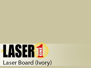 "Ivory Laserboard -  .015"" (1/64"") 12""x24"" - 25 Pieces"
